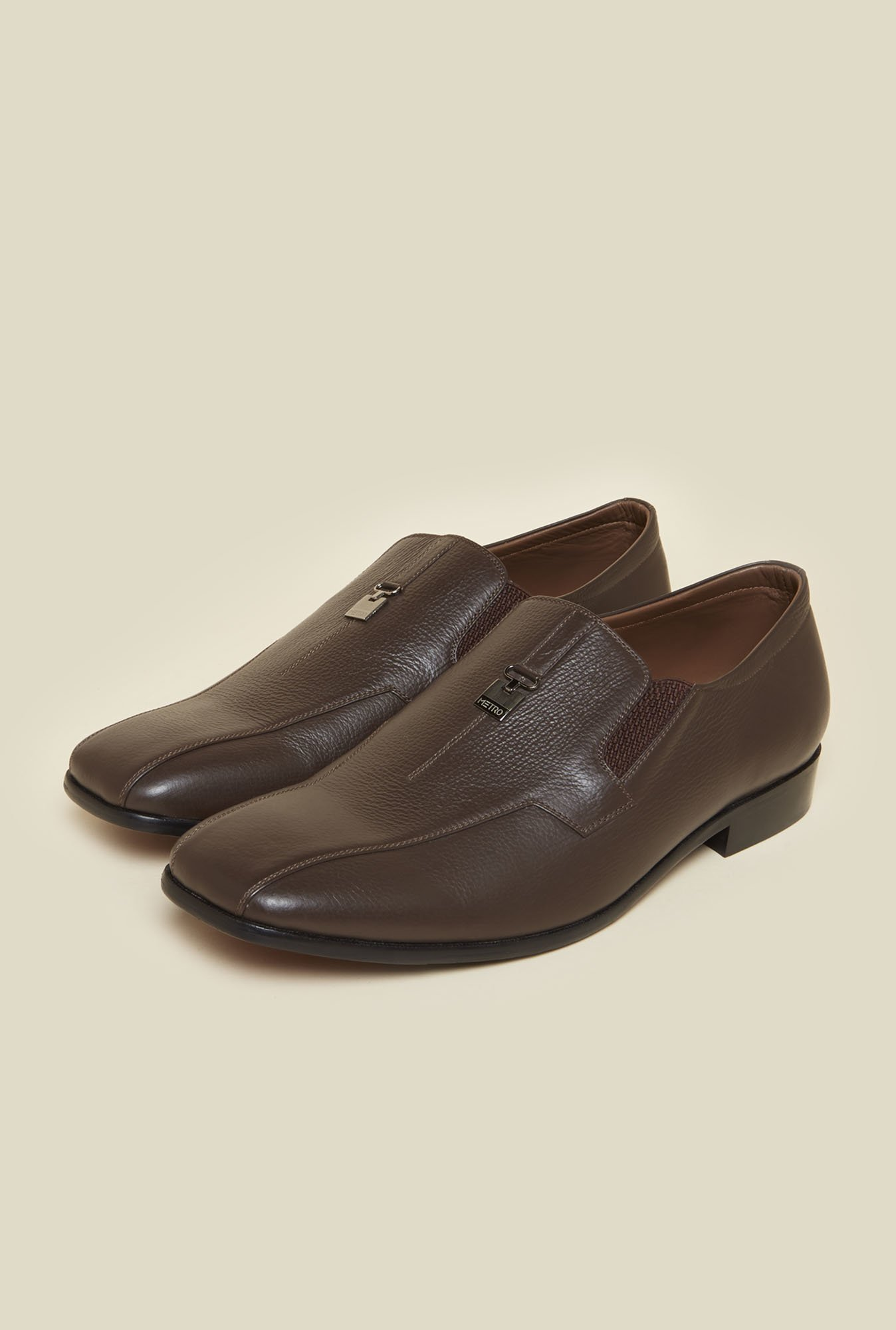 Da Vinchi by Metro Brown Leather Shoes