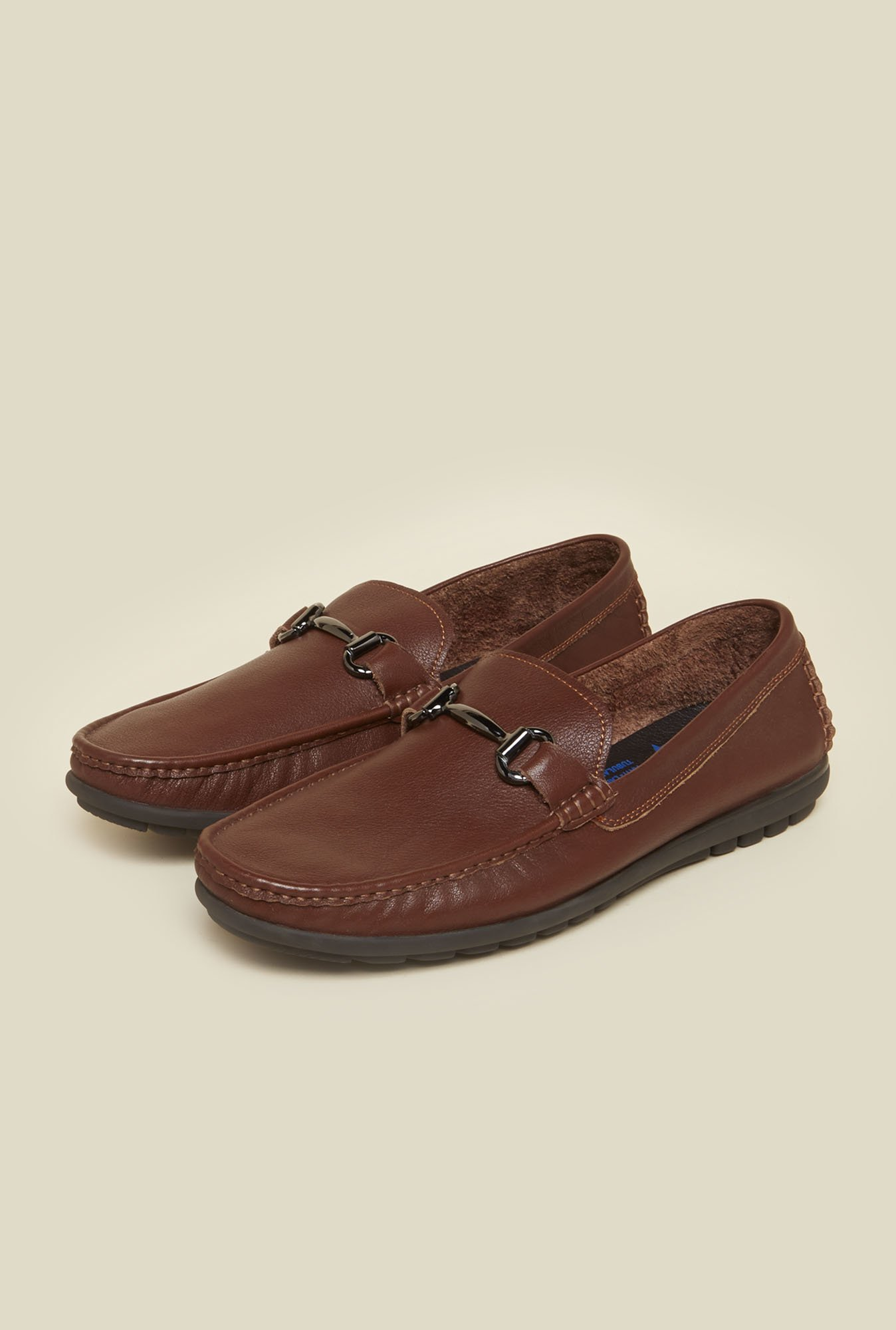 Da Vinchi by Metro Tan Leather Moccasins