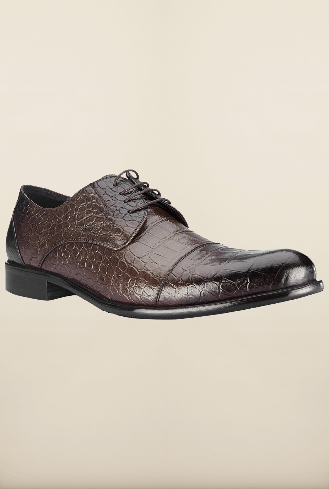 Tresmode Beprint Brown Derby Shoes