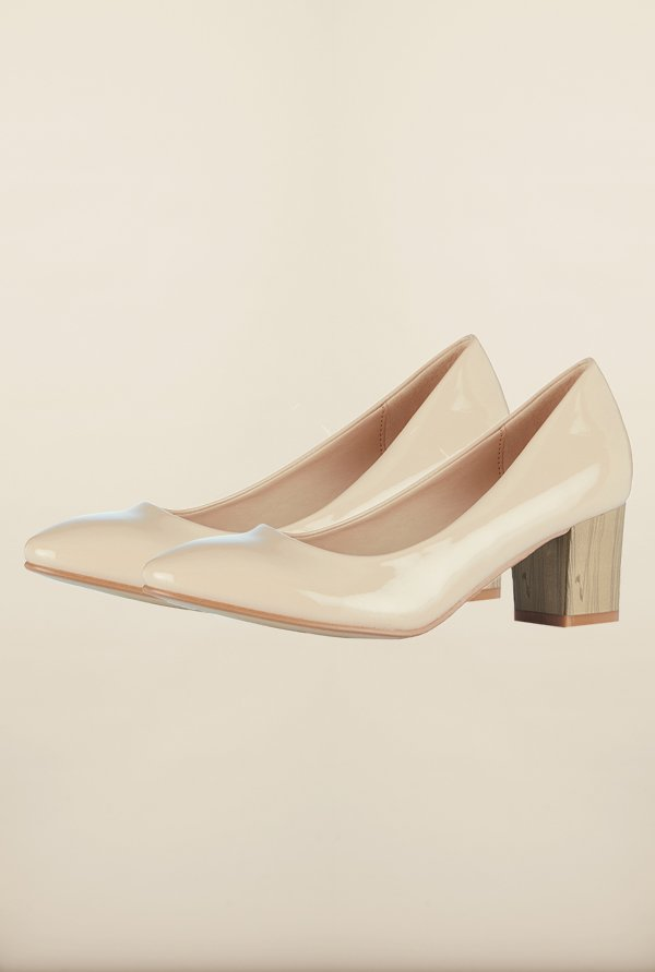 Tresmode Cecane Beige Slide Shoes