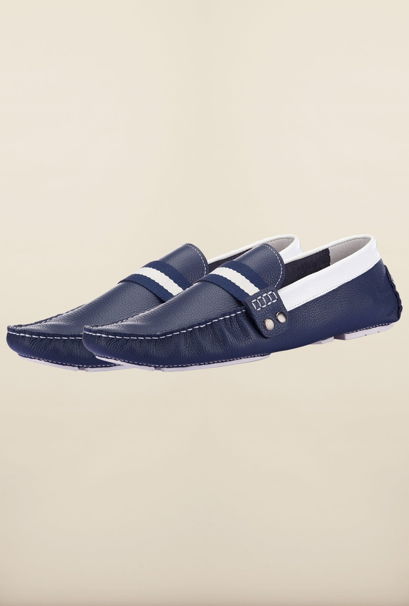 Tresmode Jiestrip Navy & White Loafers