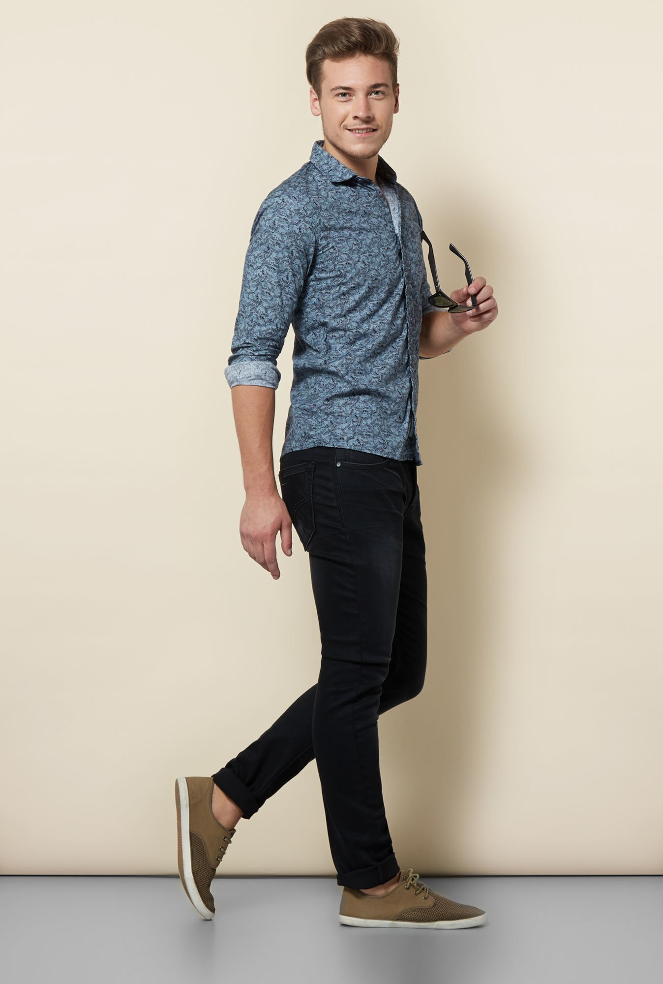 Integriti Grey Paisley Printed Shirt