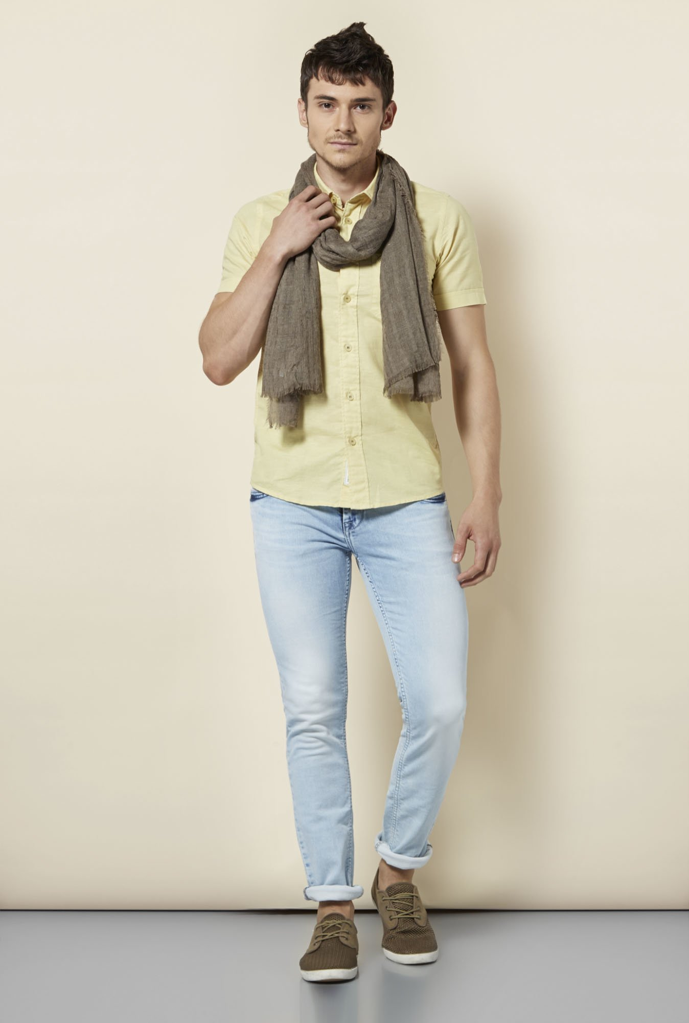Integriti Yellow Solid Shirt
