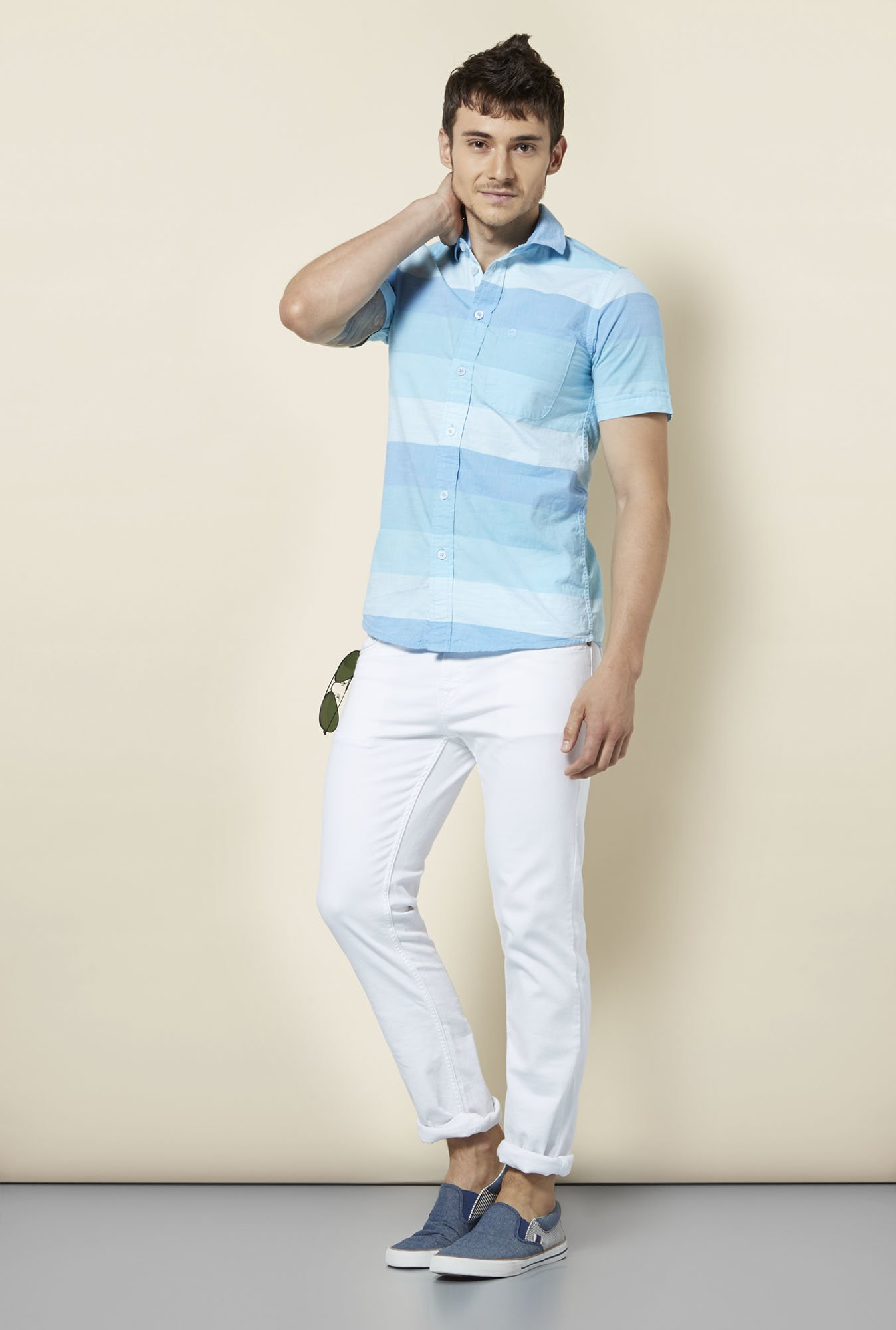 Integriti Blue Slim Fit Shirt