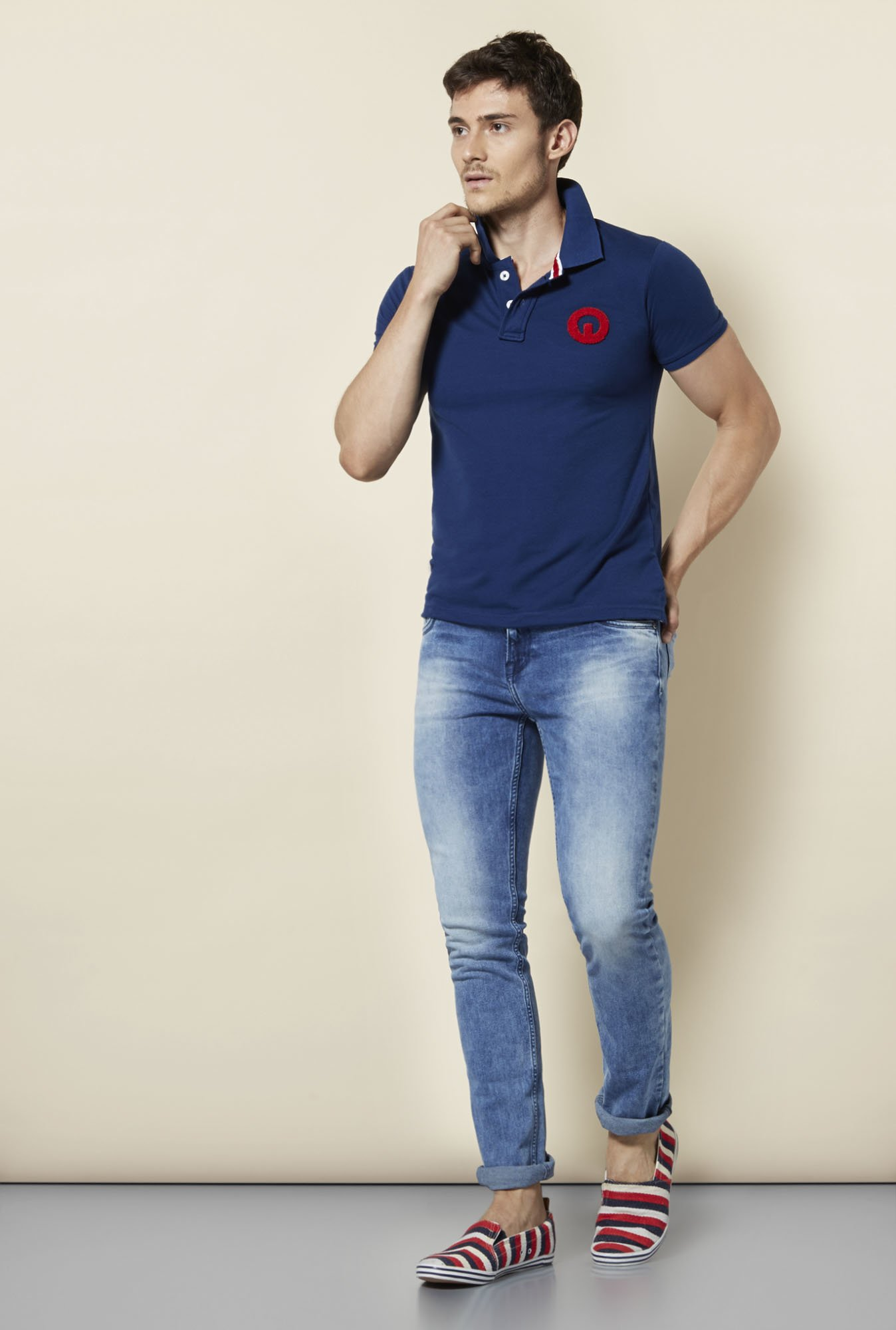 Integriti Blue Slim Fit Polo T Shirt