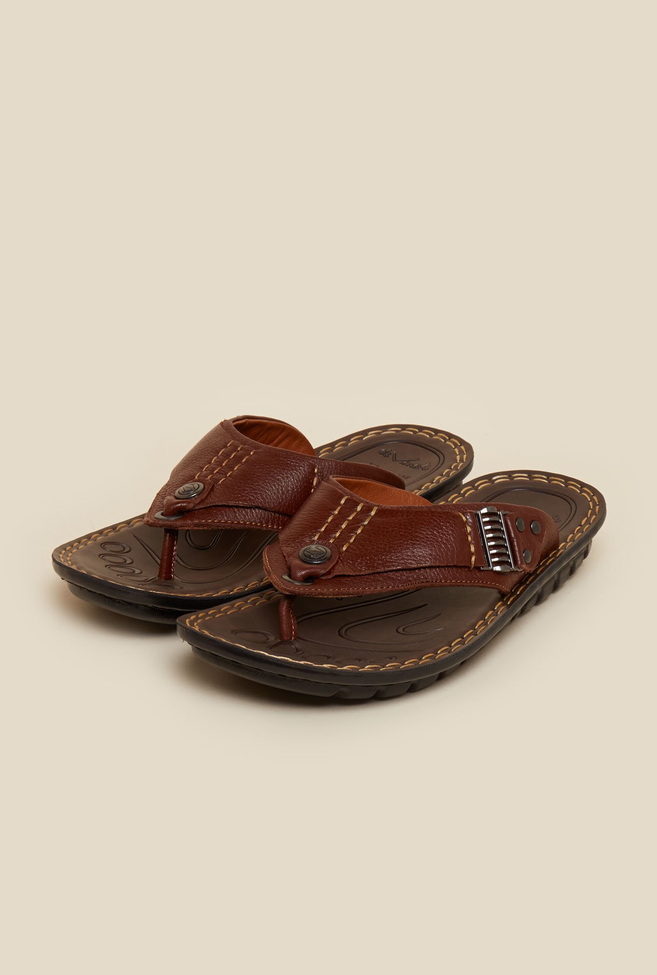 Da Vinchi by Metro Tan Leather Sandals
