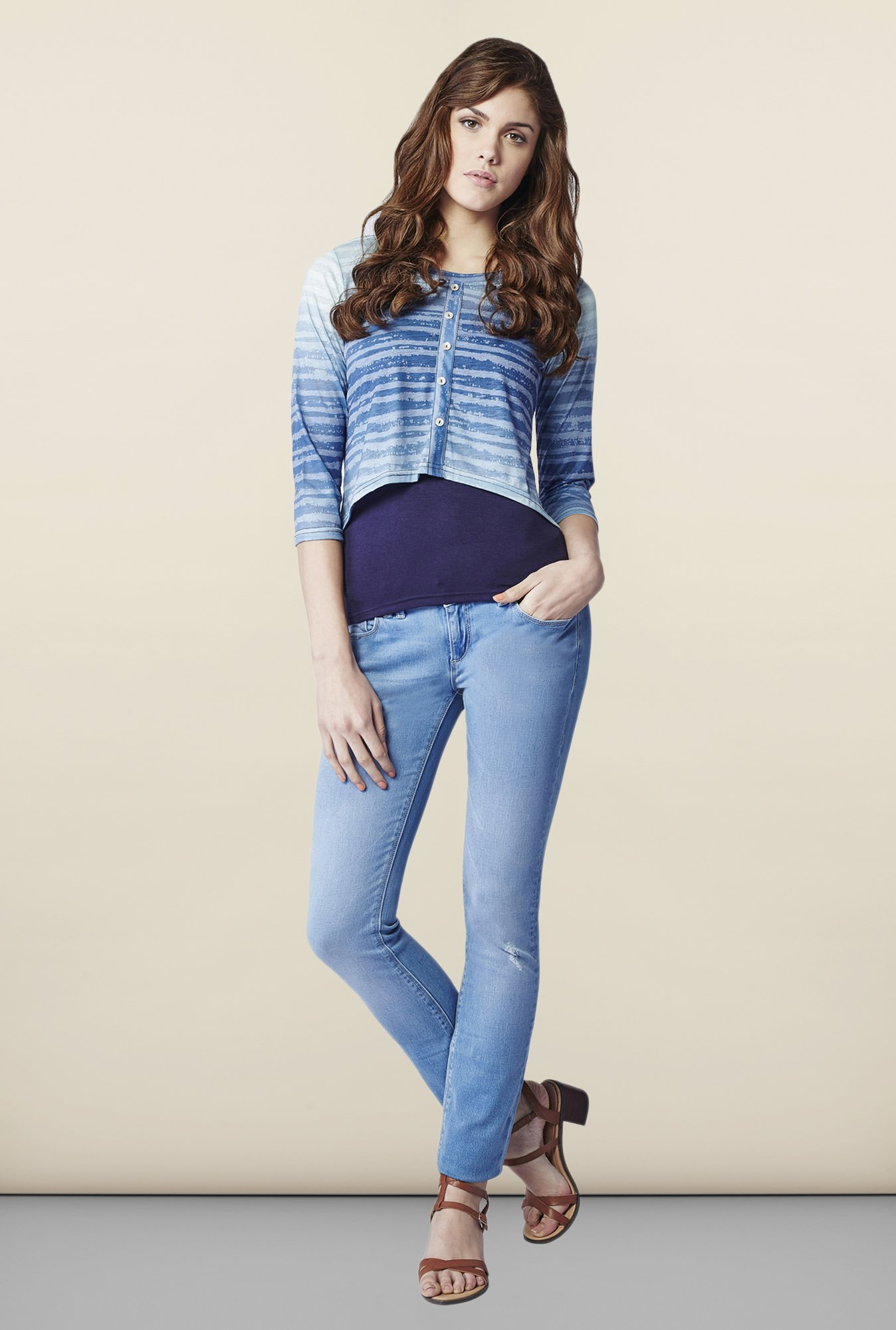 AND Sapphire Striped Top