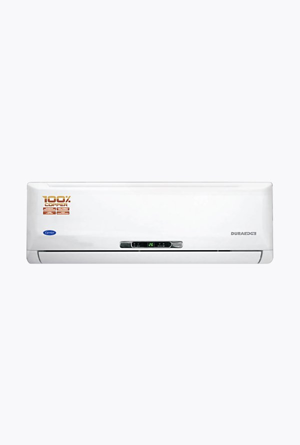 Carrier Duraedge 12K 3 Star 1 Ton Split AC White