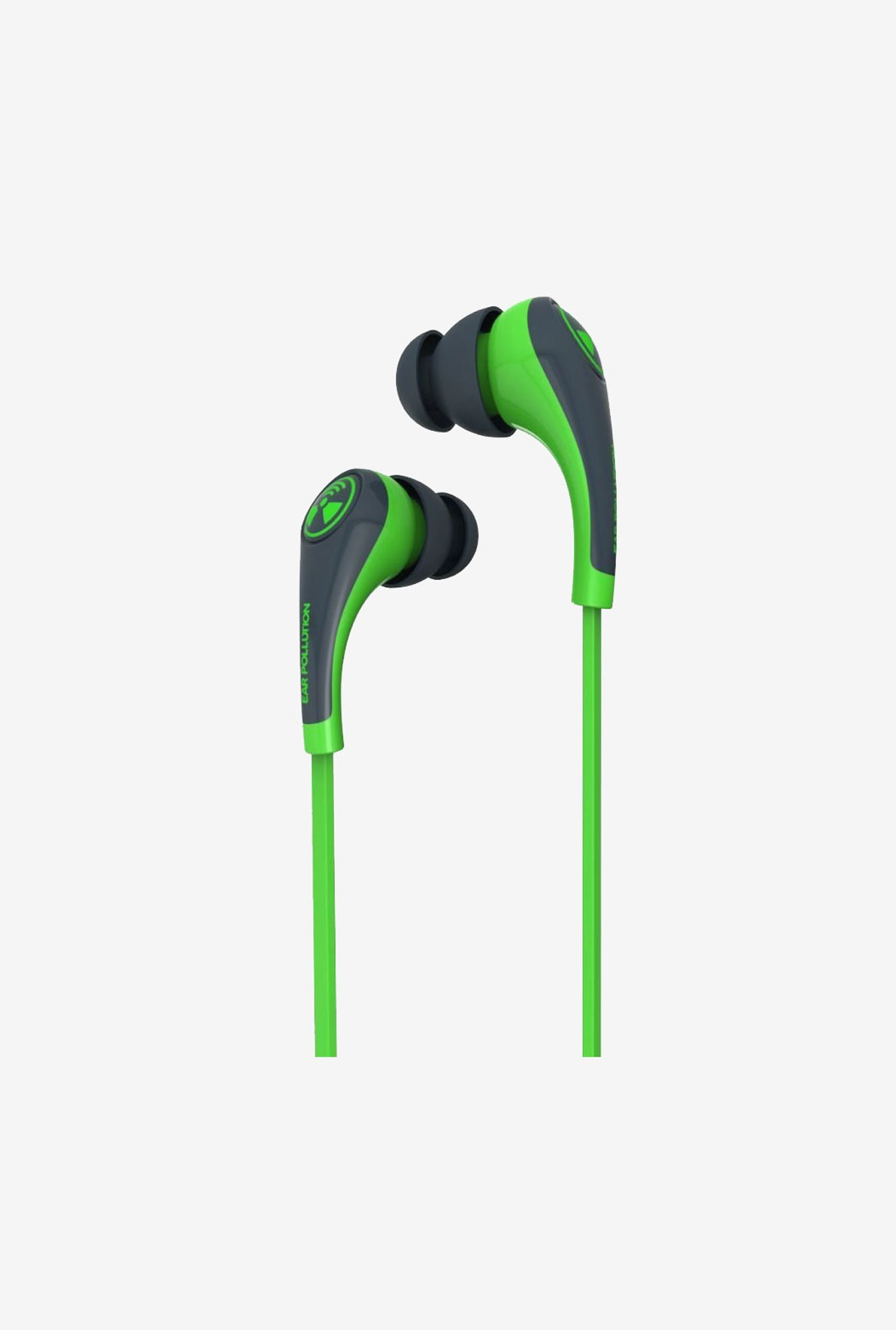 iFrogz Audio Ear Pollution Plugz Mobile With Mic Neon Green