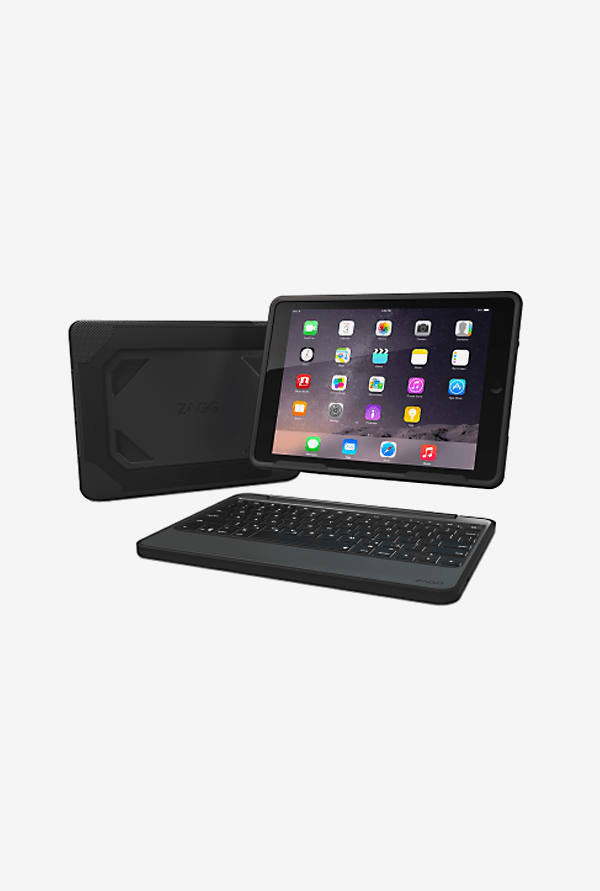 Zagg ID6RGK Rugged Case with Keyboard Black for iPad Air 2