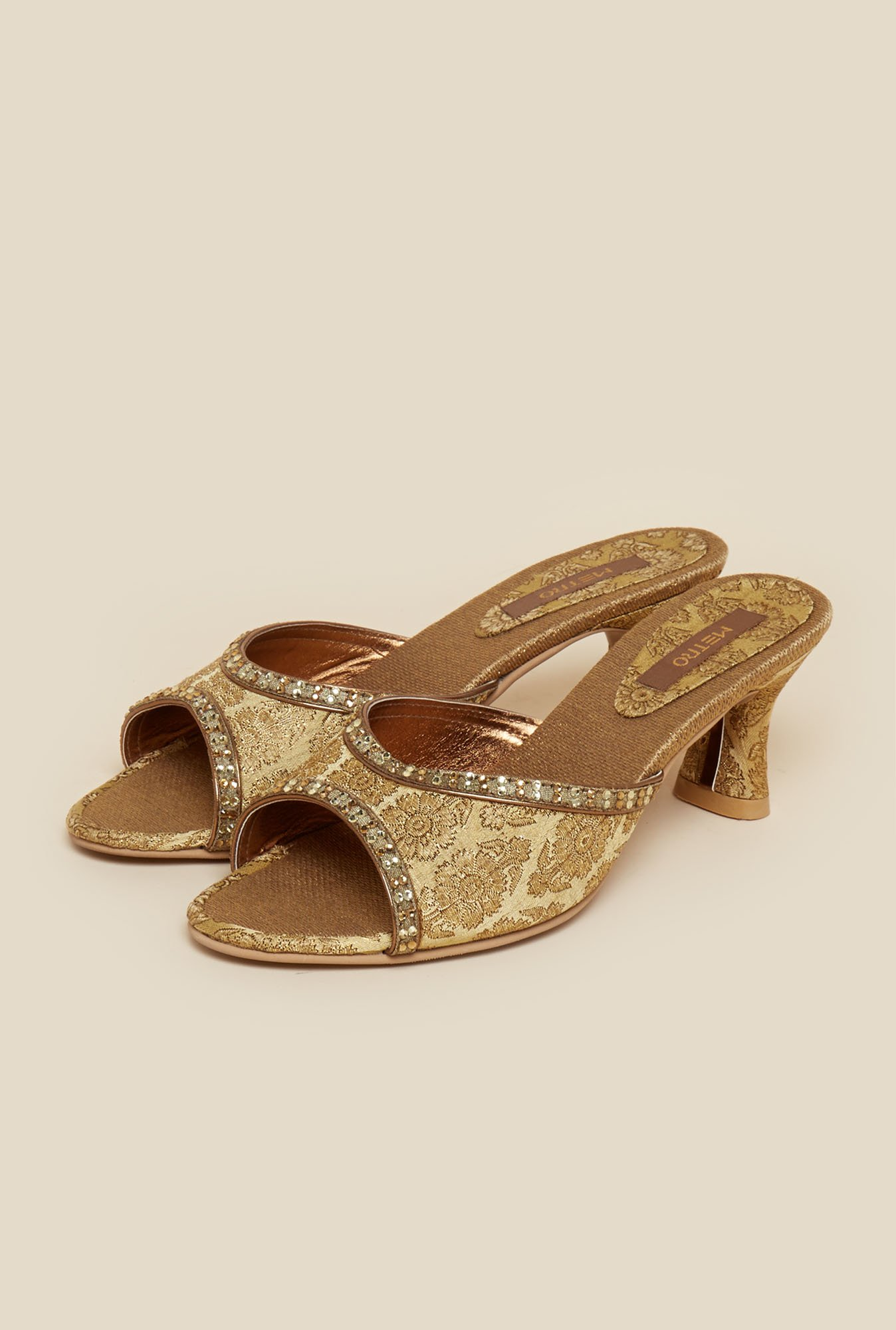 Metro Antique Gold Sandals