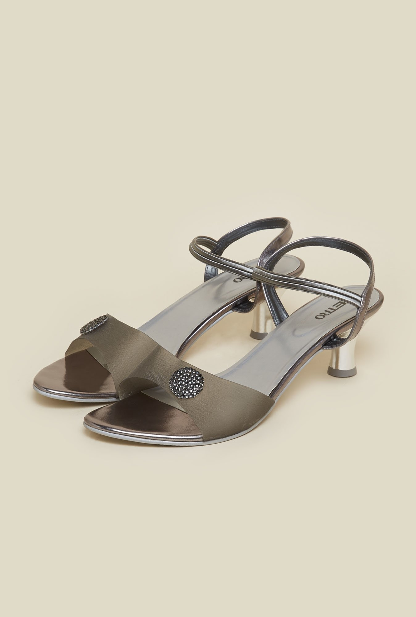 Metro Gun Metal Formal Sandals
