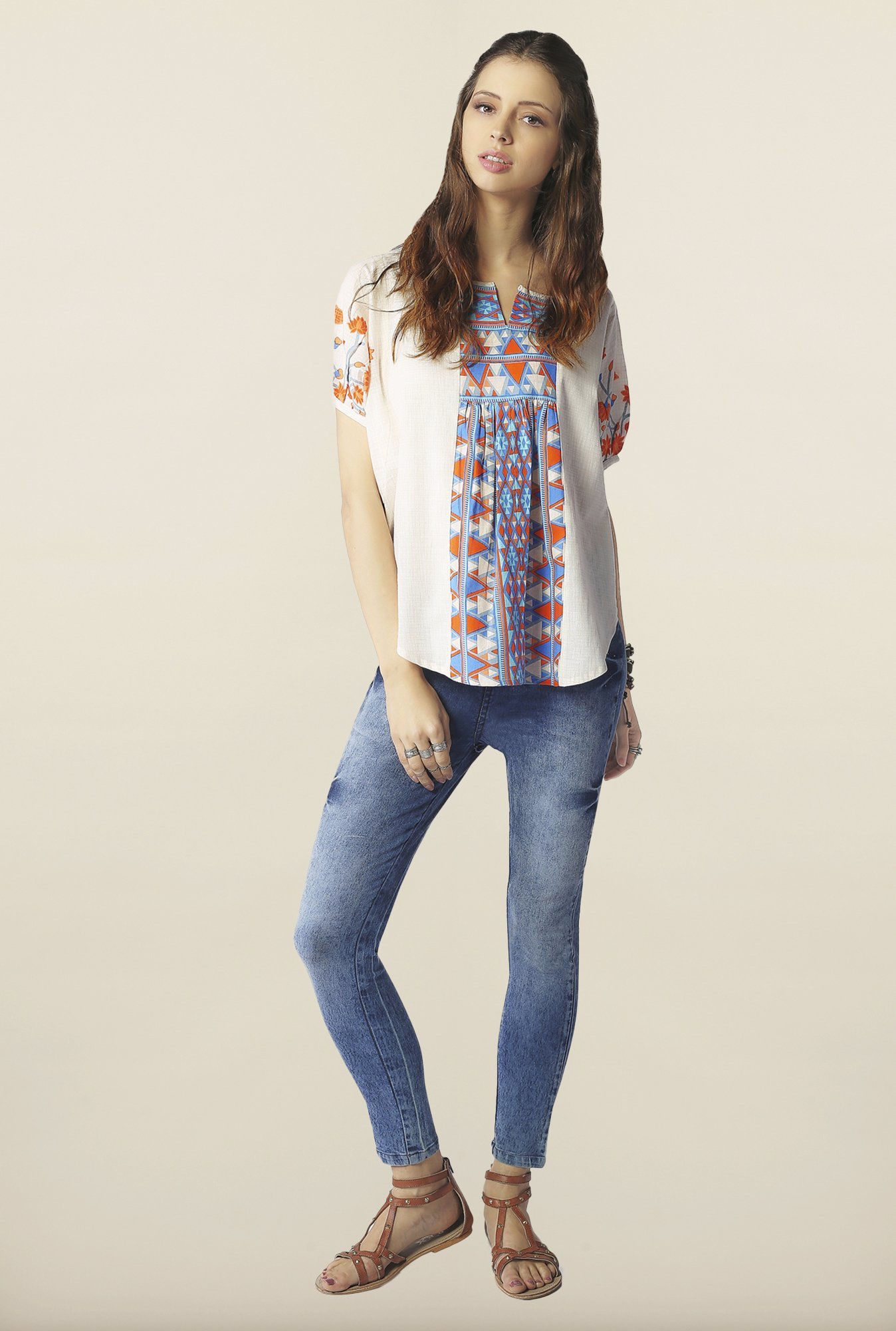 Global Desi Opal Printed Top
