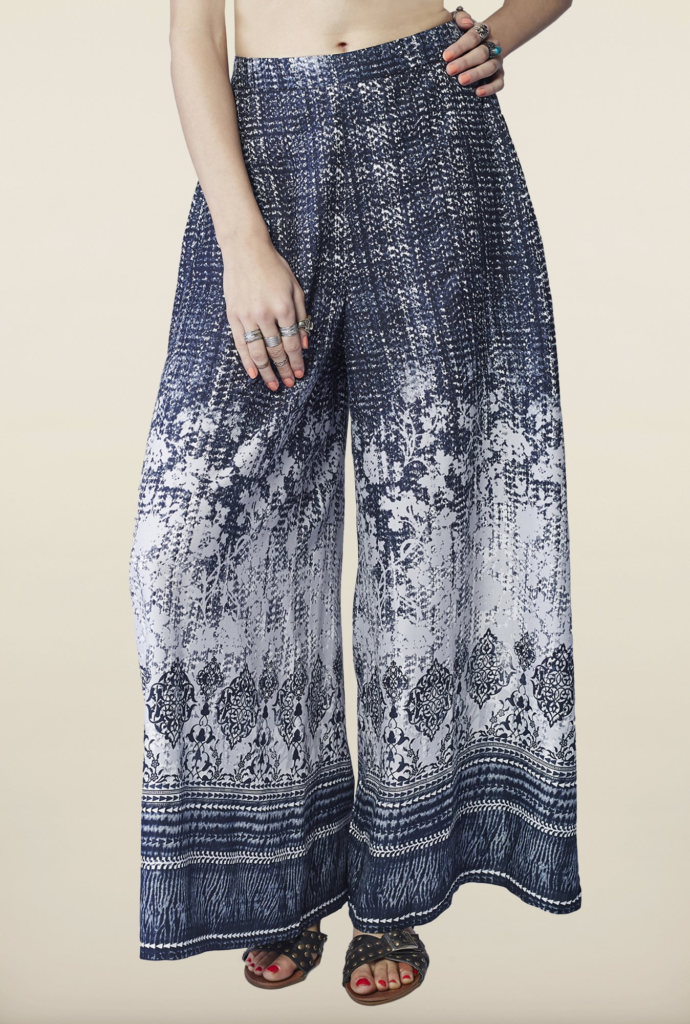 Global Desi Black Ombre Palazzo