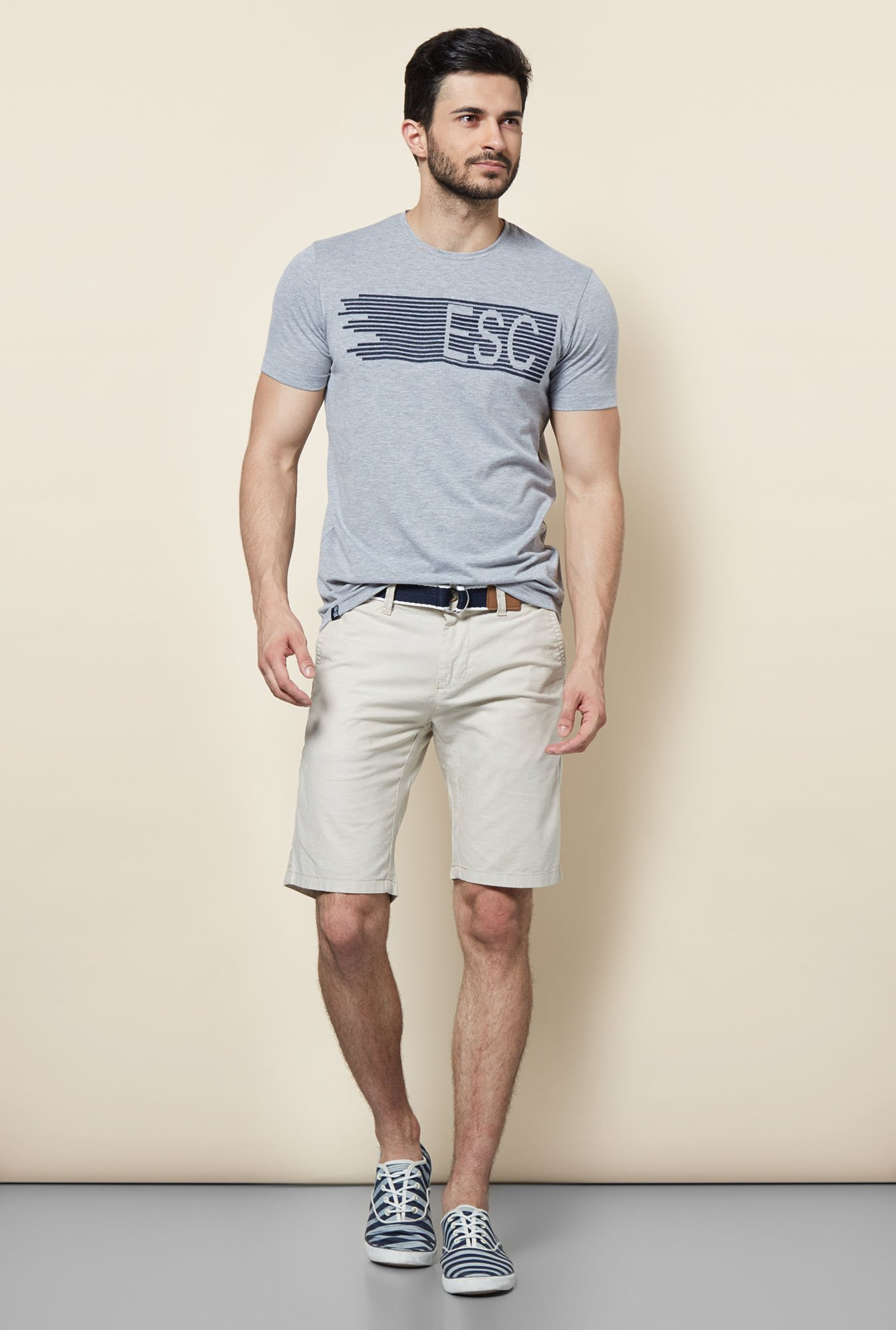 Easies Grey Casual T-Shirt