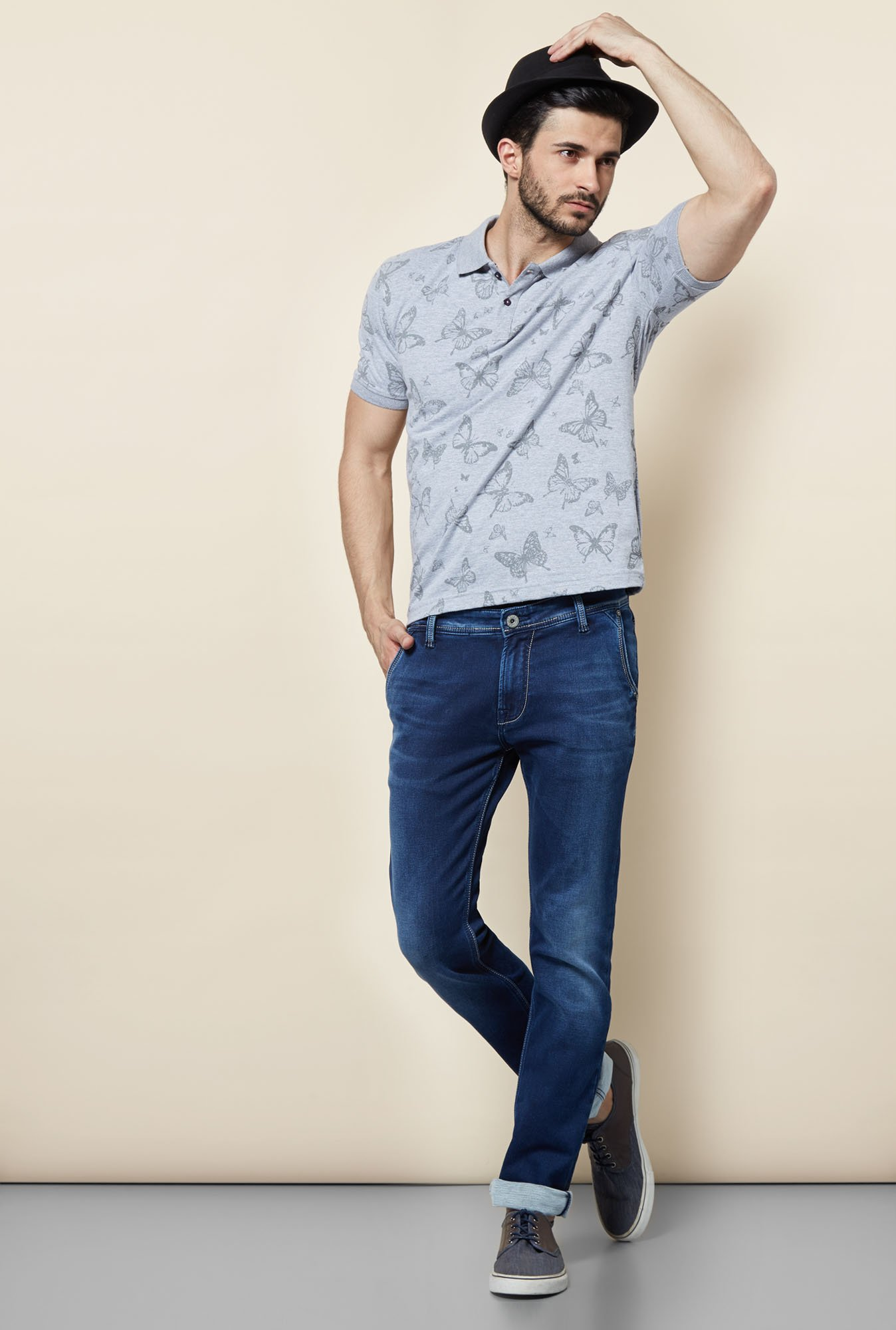 Easies Grey Polo T-Shirt