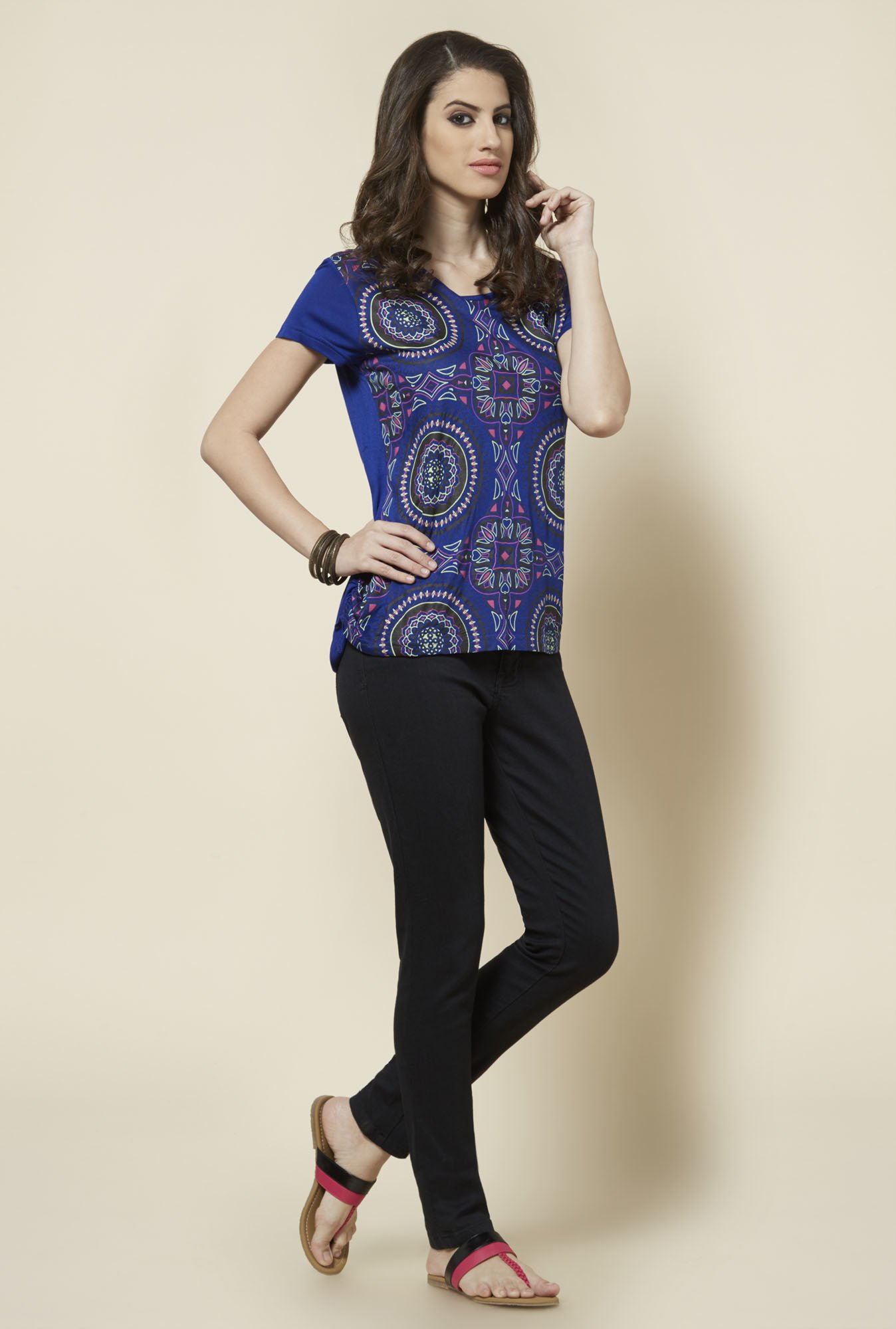 Zudio Blue Printed Top