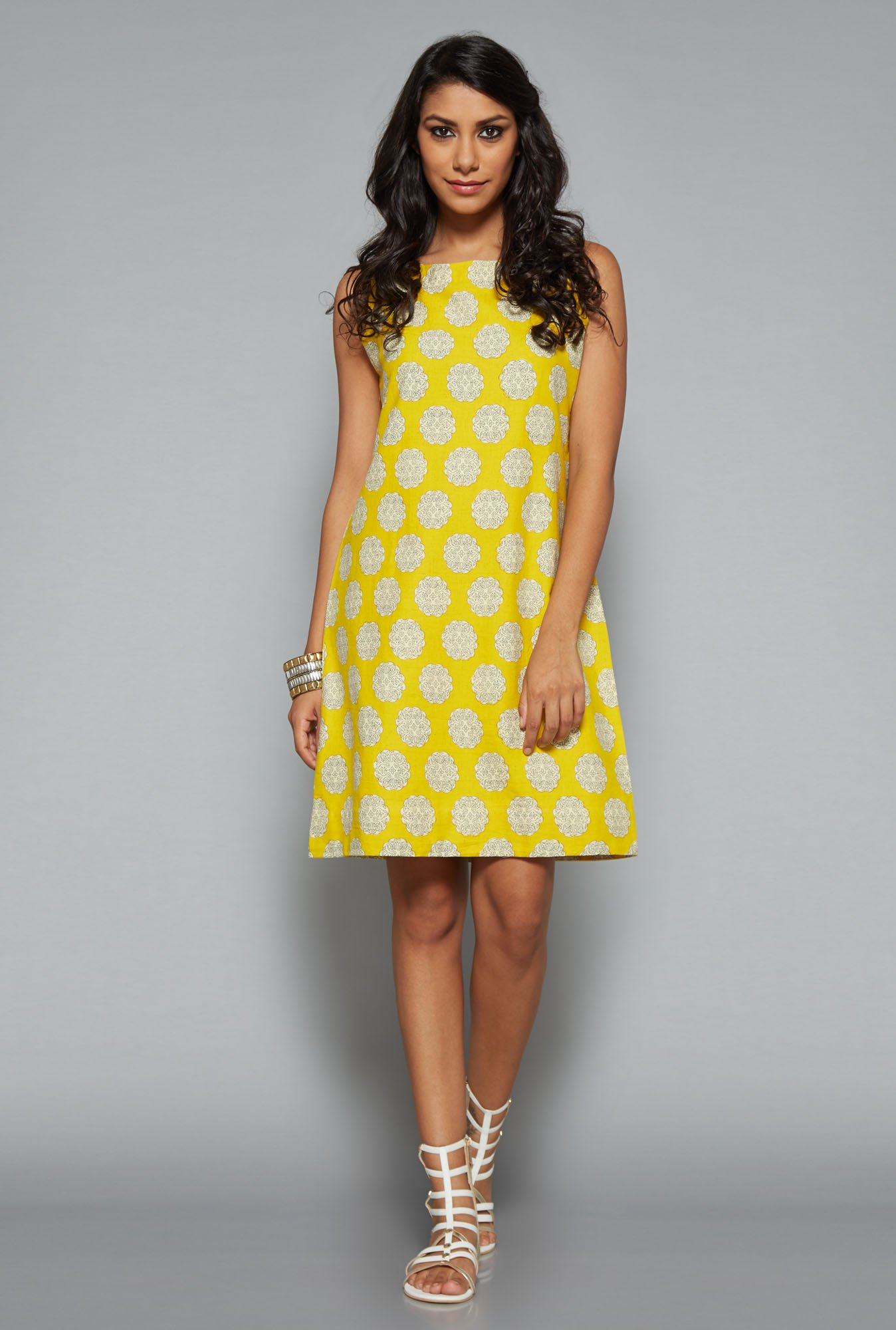 Bombay Paisley Yellow Printed Dress