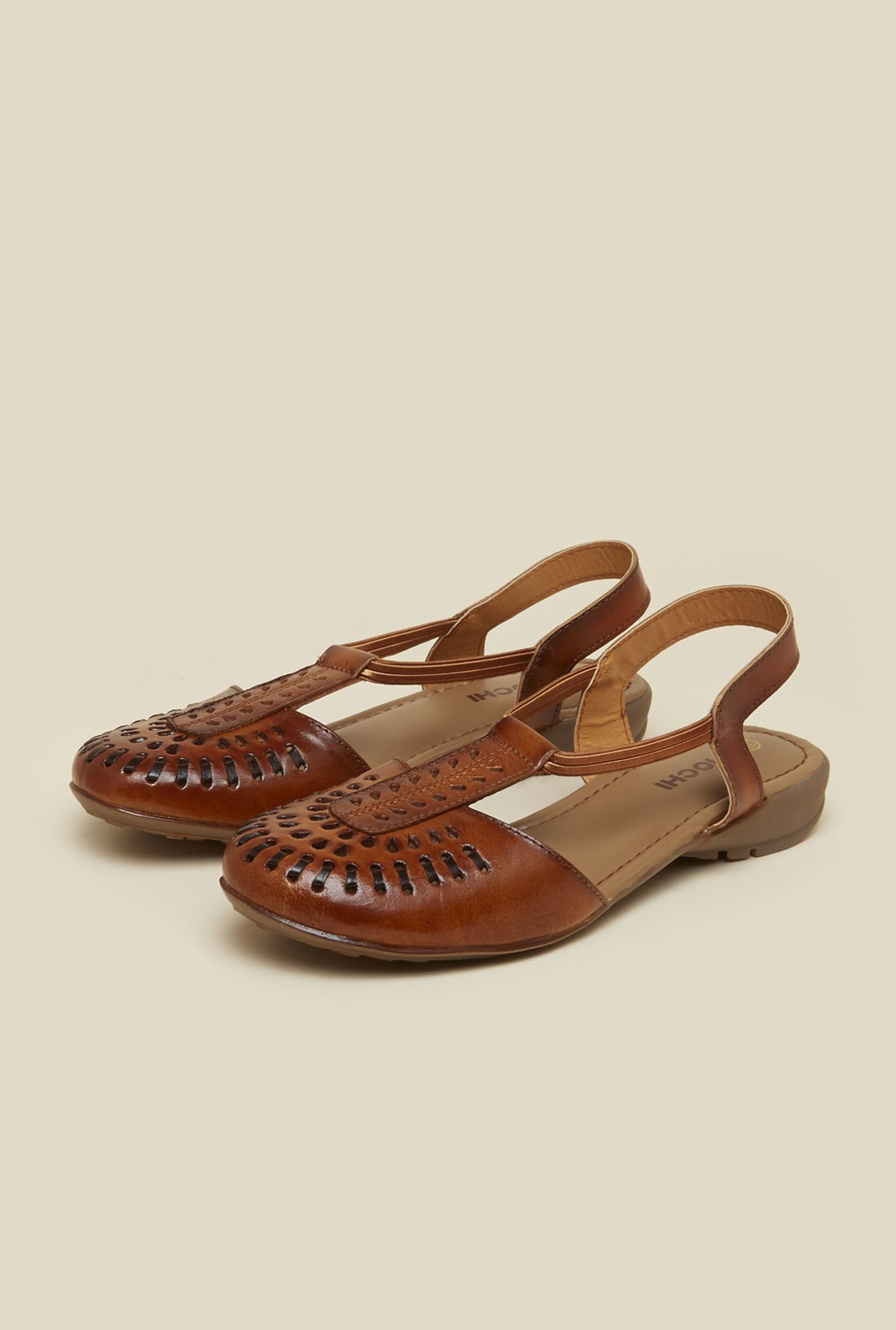 Mochi Walnut Brown Flat Sandals