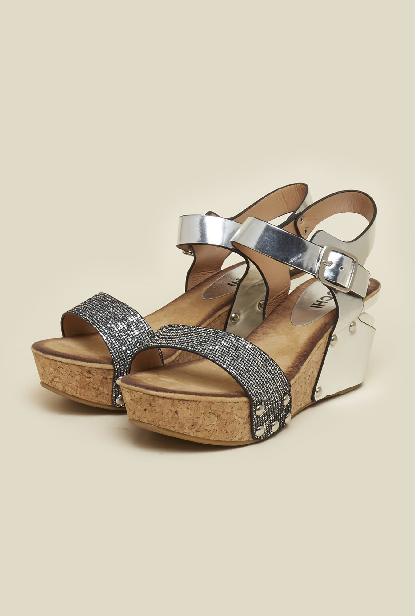 Mochi Silver Back Strap Wedges