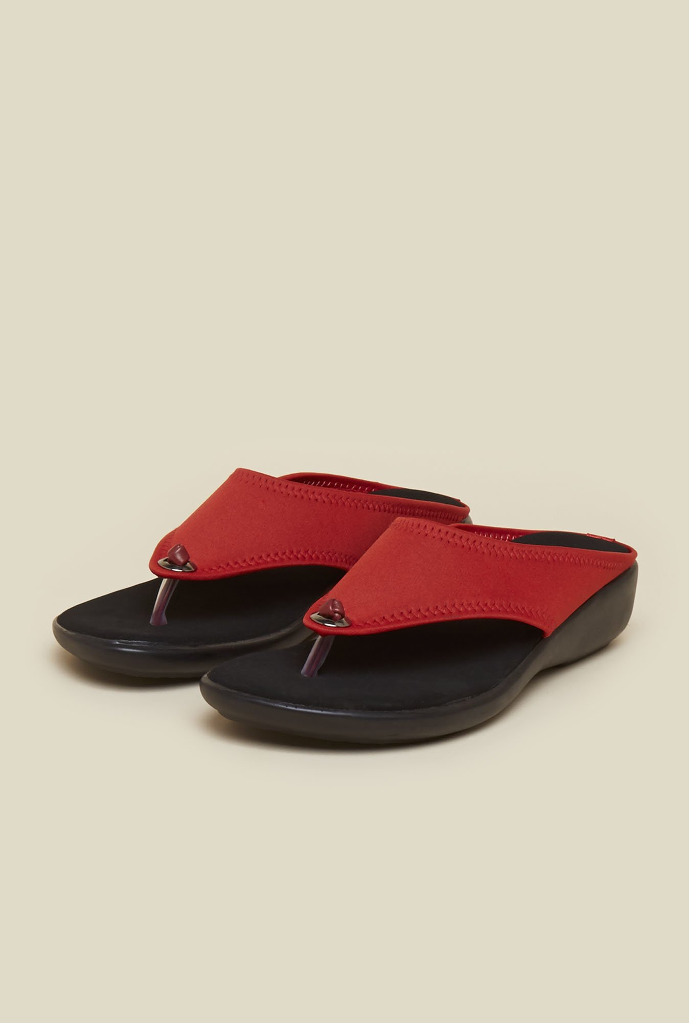 Mochi Red Formal Wedges