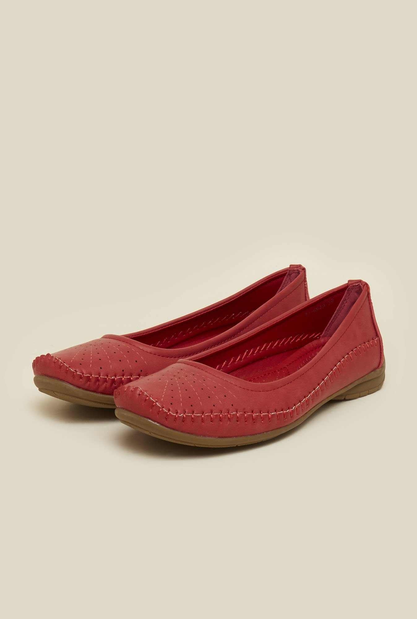 Mochi Red Ballet Flat Shoes