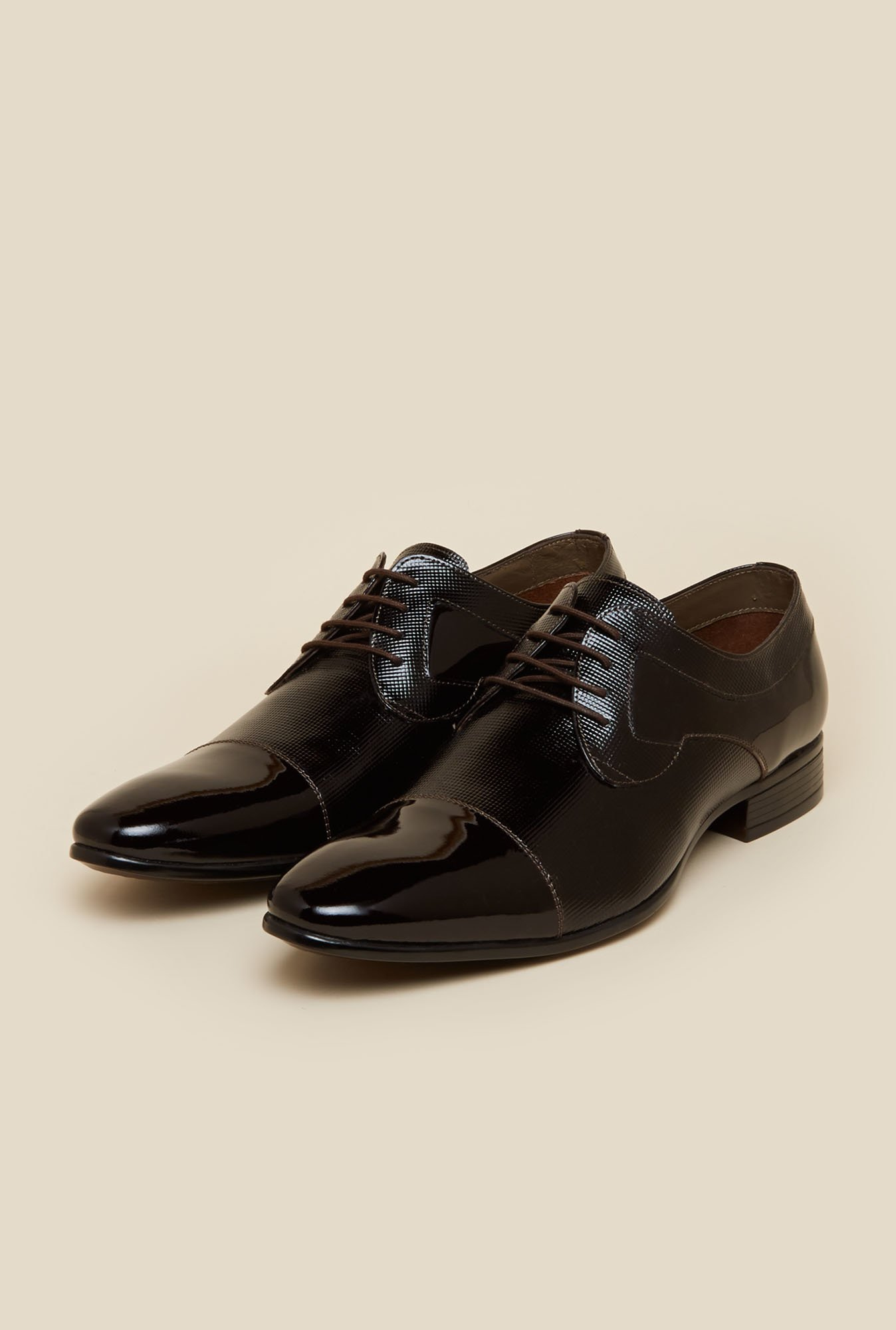 Mochi Dark Brown Formal Derby Shoes