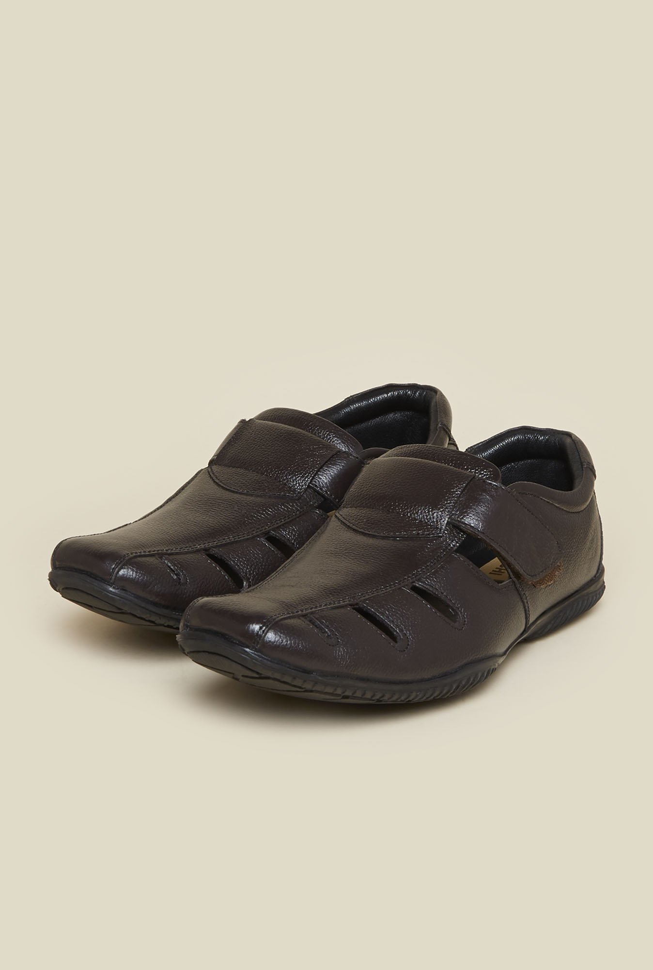 Mochi Dark Brown Fisherman Sandals