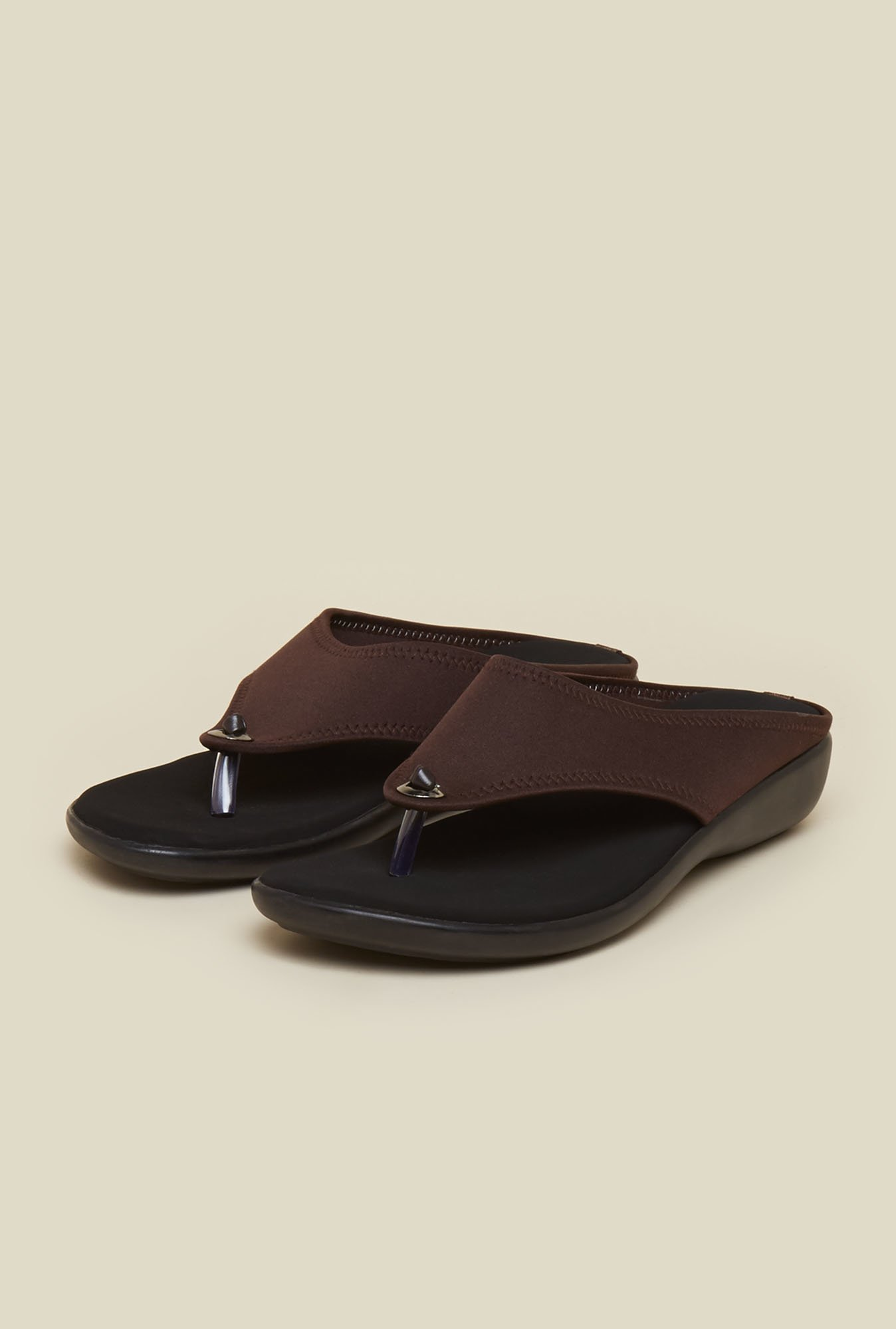 Mochi Brown Wedge Sandals