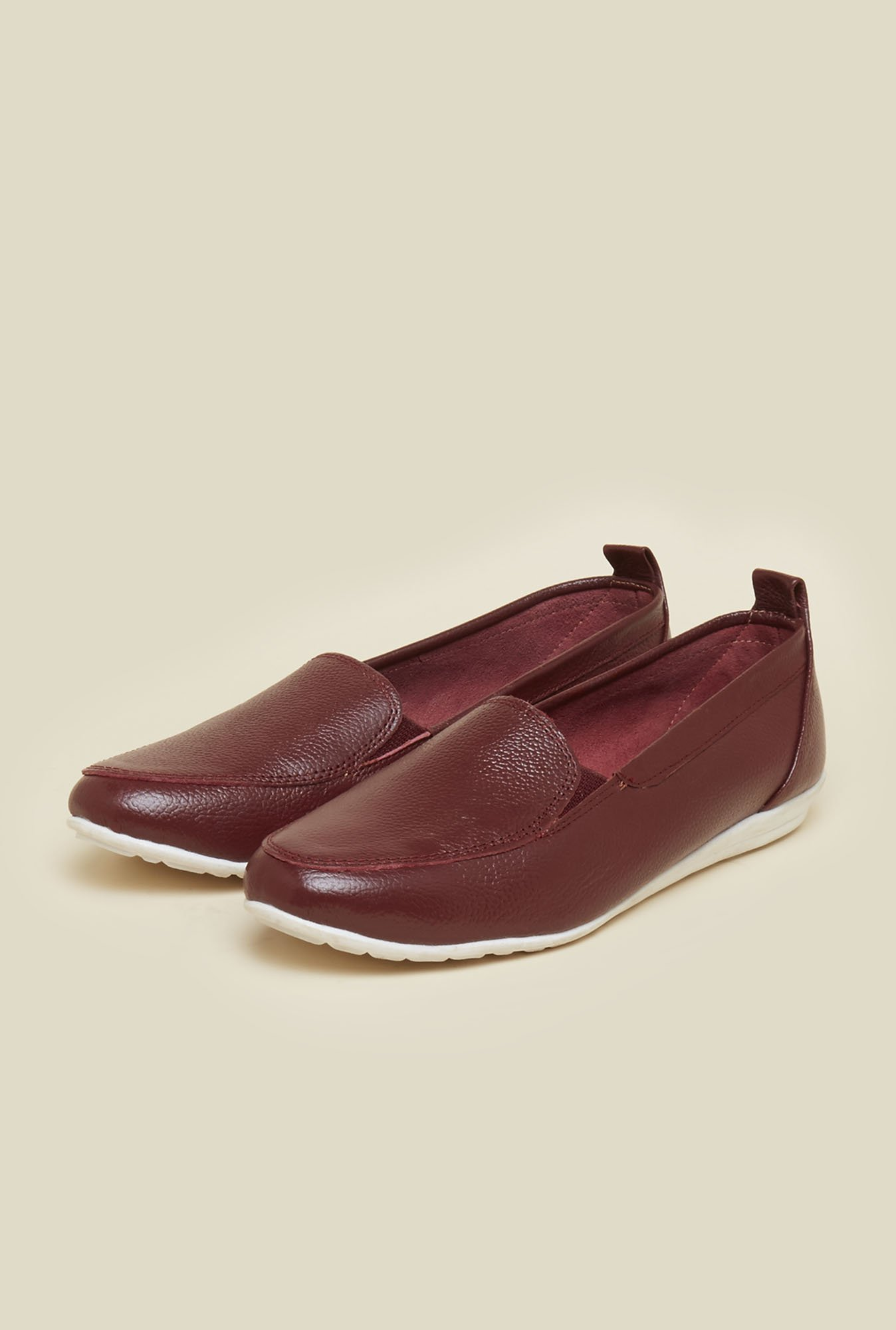 Mochi Maroon Casual Shoes
