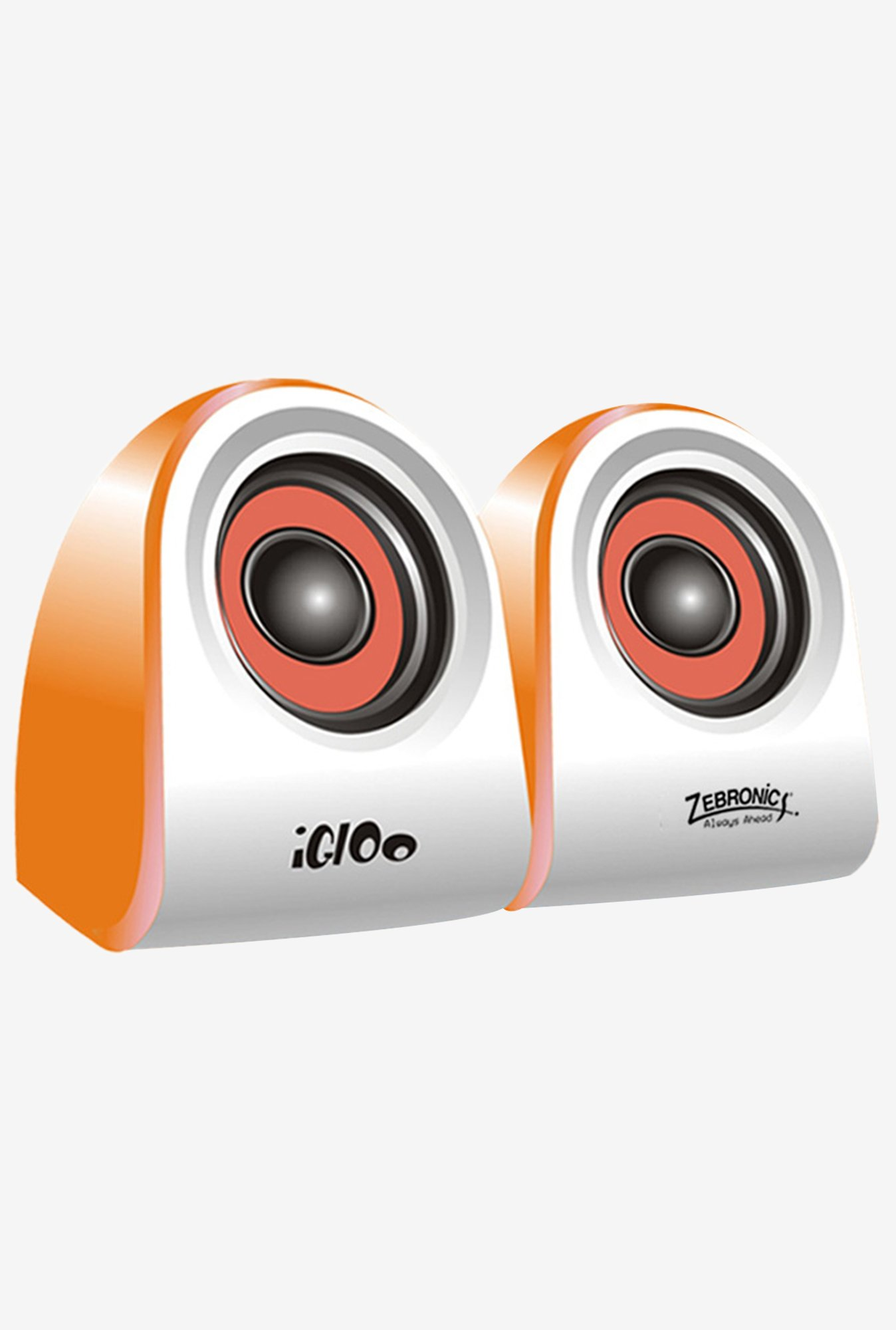 Zebronics Igloo Computer Speakers Orange