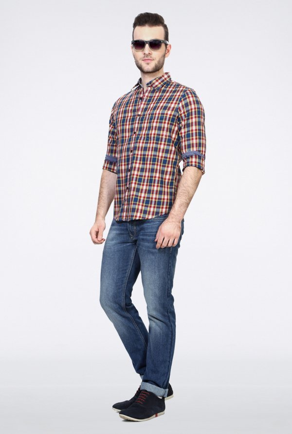 Allen Solly Multicolor Checks Casual Shirt