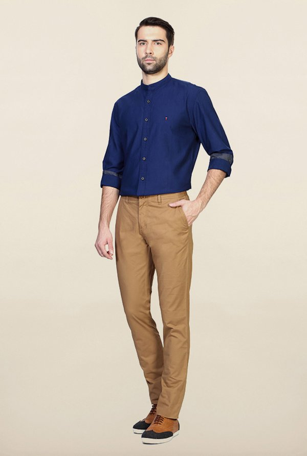 Van Heusen Khaki Slim Fit Chinos