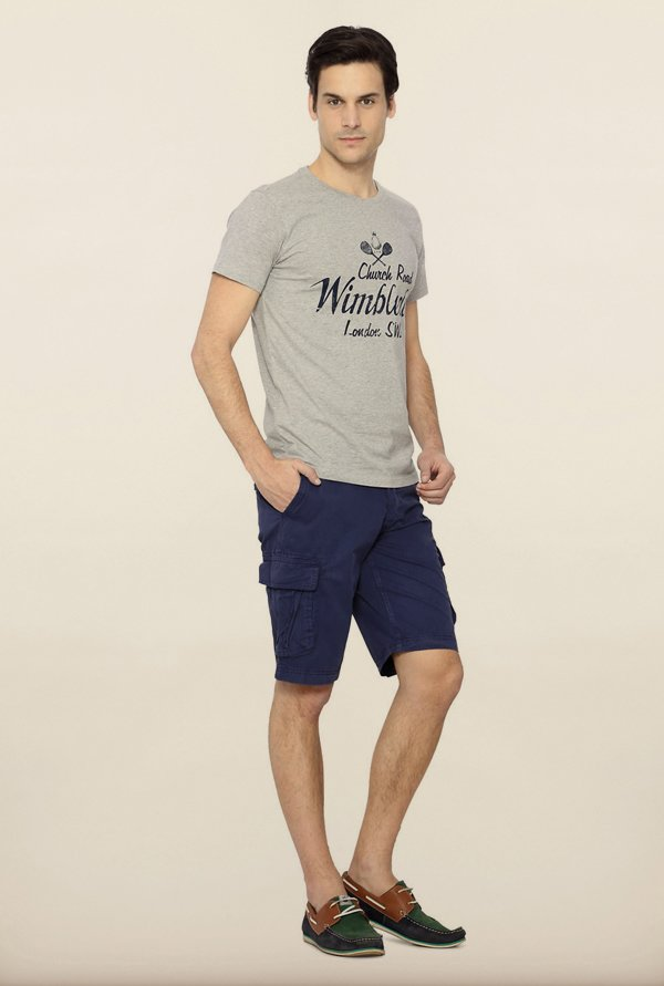 Allen Solly Grey Printed T shirt