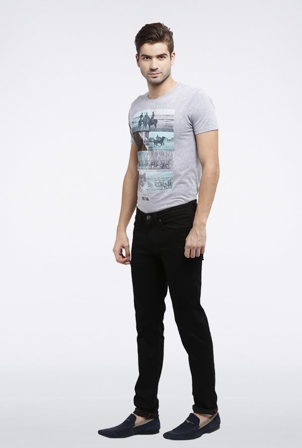 Allen Solly Black Solid Jeans