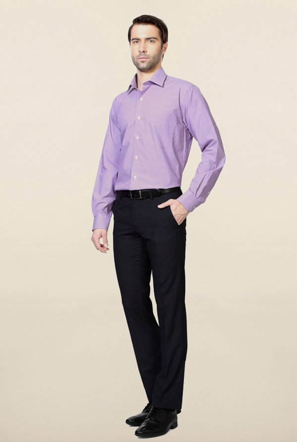Van Heusen Lilac Checks Shirt