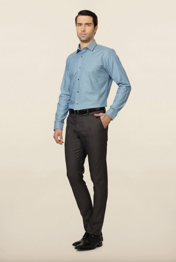 Van Heusen Blue Cotton Shirt