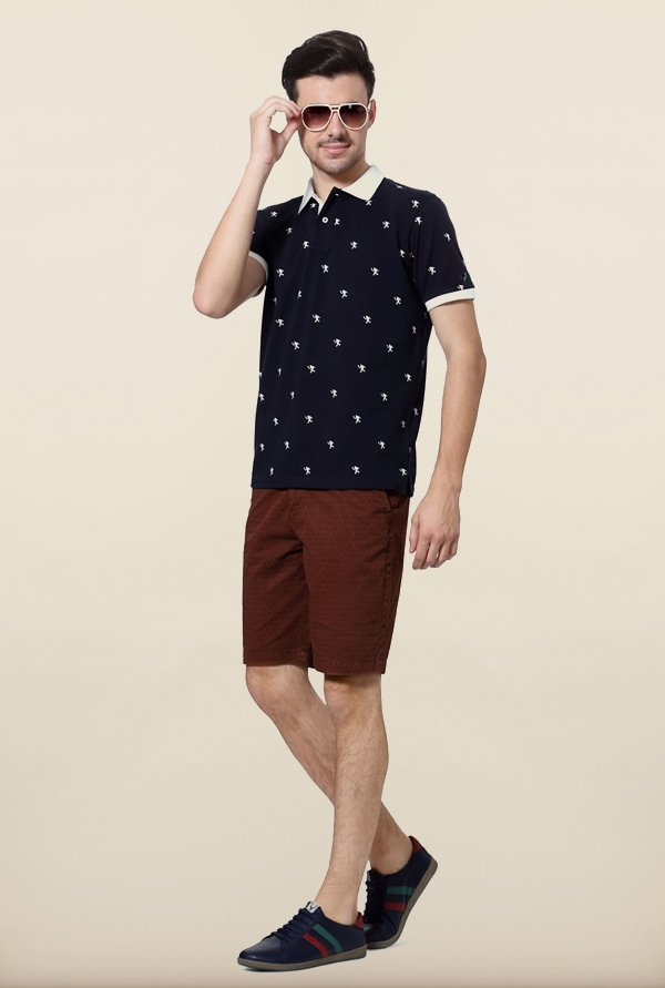 Allen Solly Navy Wimbledon Polo T shirt