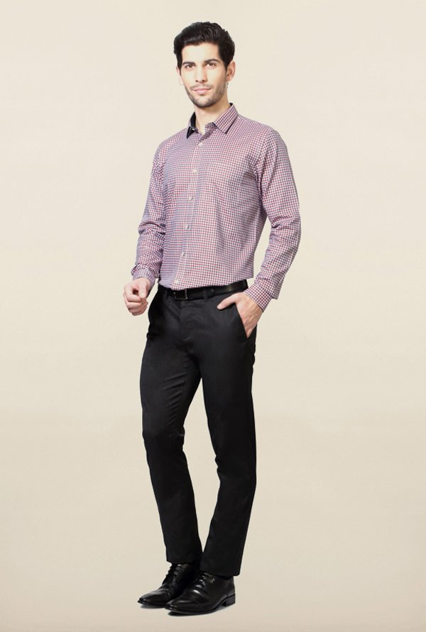 Van Heusen Pink Checks Slim Fit Shirt