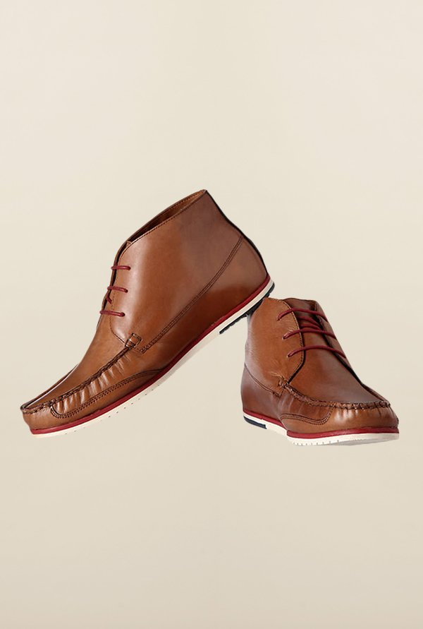 Louis Philippe Brown Chukka Shoes
