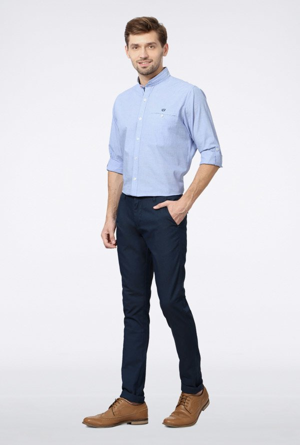 Van Heusen Blue Casual Trousers