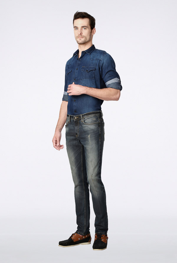 Van Heusen Grey Slim Fit Jeans