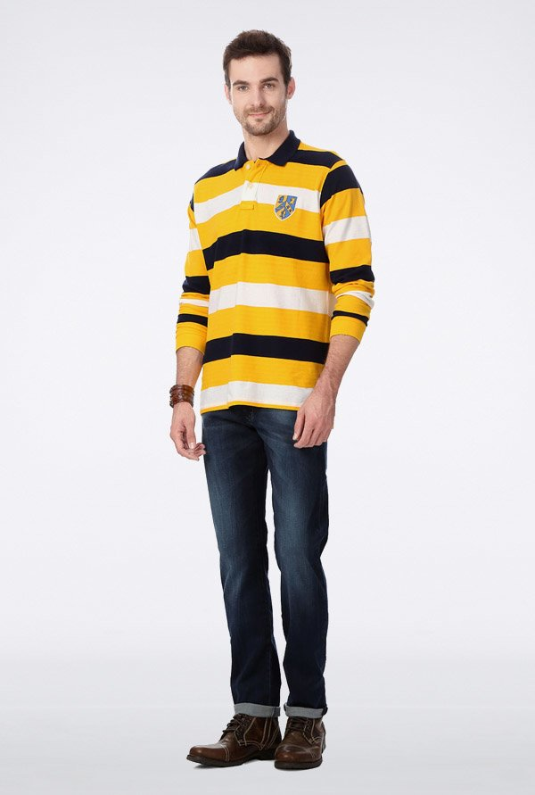 University Of Oxford Yellow Striped T Shirt