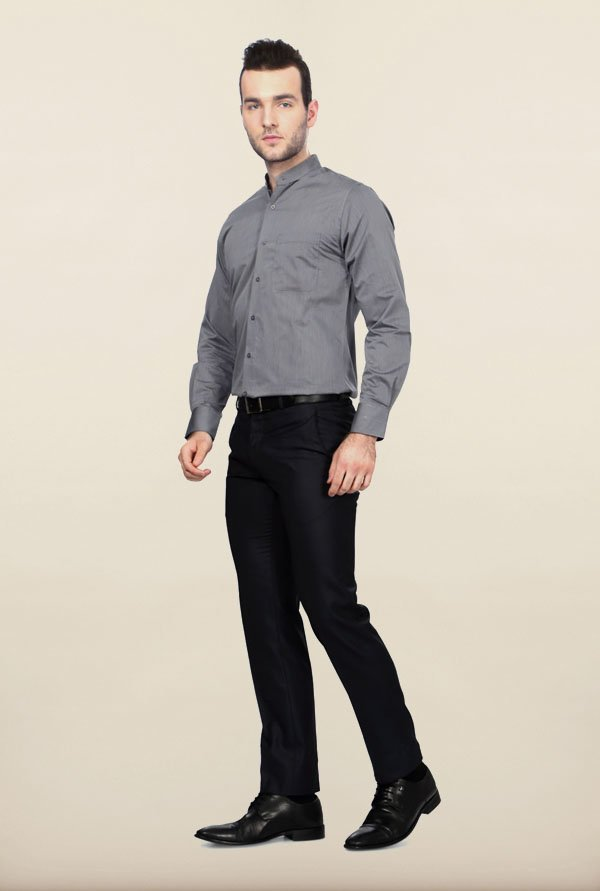 Peter England Grey Formal Shirt