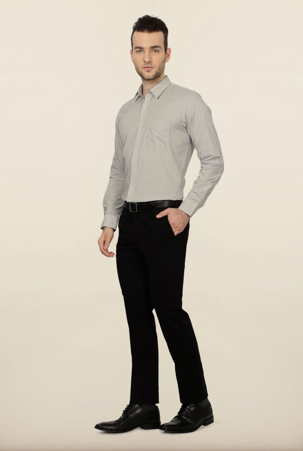 University of Oxford White Striped Formal Shirt