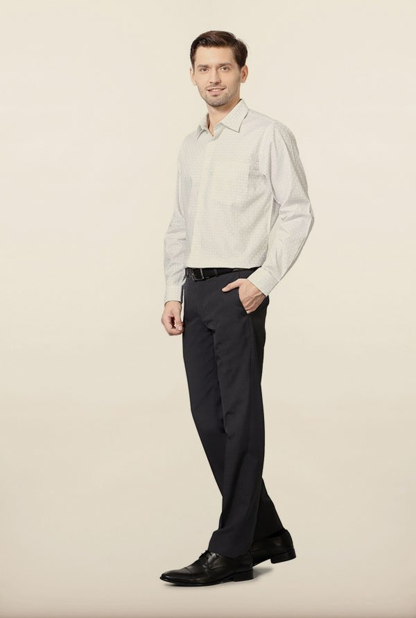 Allen Solly White Checks Formal Shirt