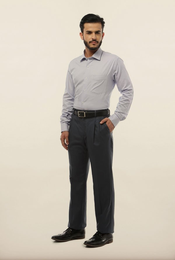 Van Heusen Grey Formal Shirt