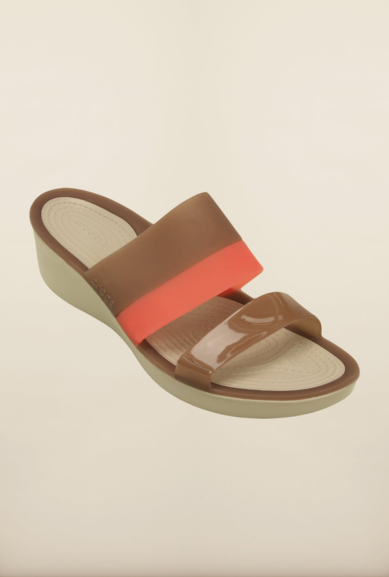 Crocs ColorBlock Brown Wedges