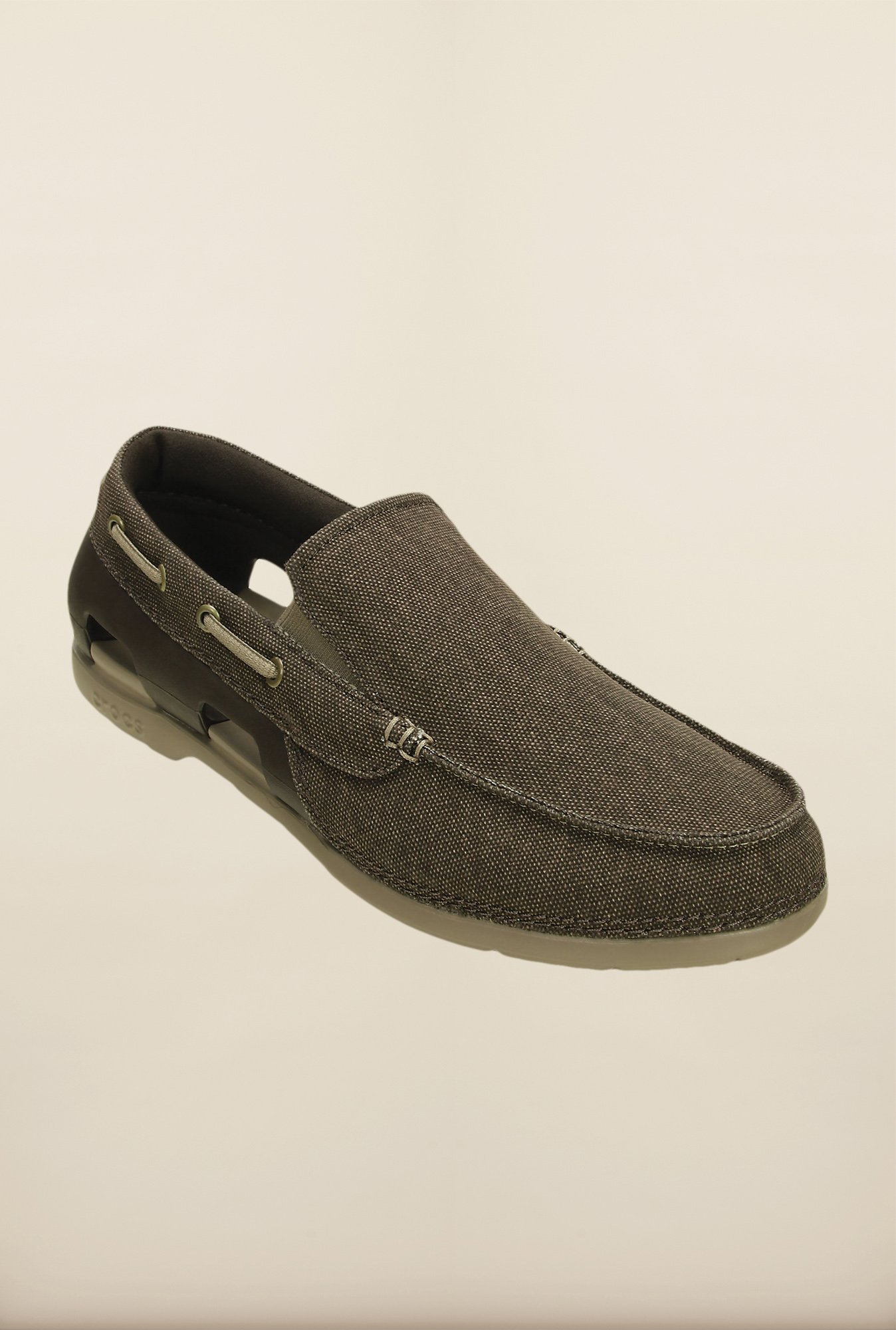 Crocs Beach Line Espresso Loafers