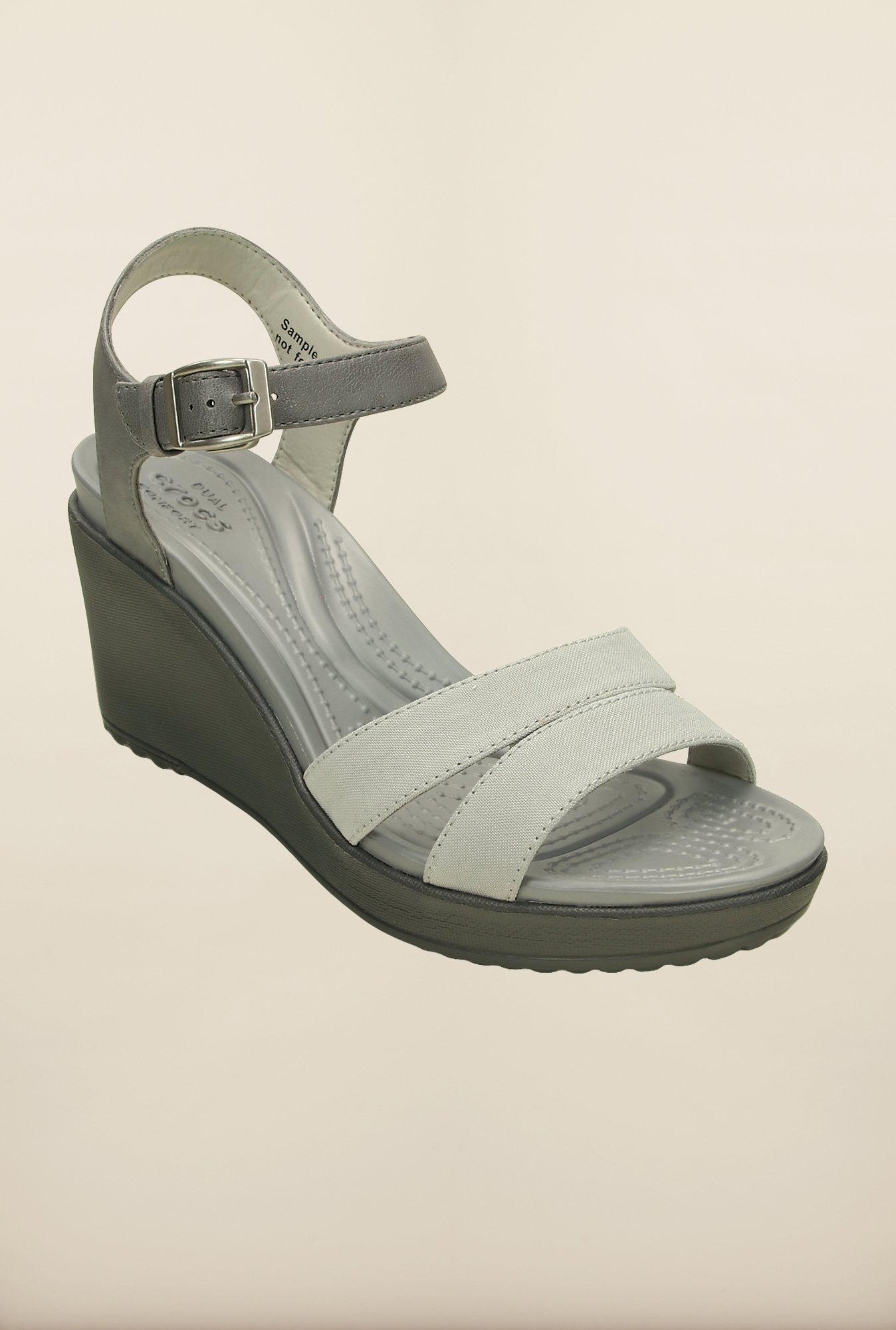 Crocs Leigh II Charcoal Grey Wedges